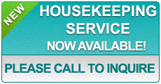 Housekeeping Service now available!