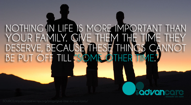 Give Importance to your Family