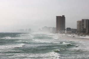 Miami Beach during Hurricane